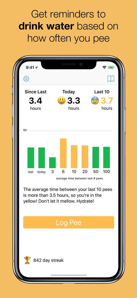 Pee and See App Screenshot